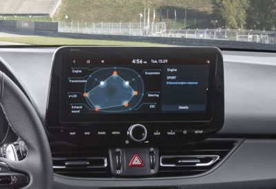 The personalized setting of the N custom sport mode.