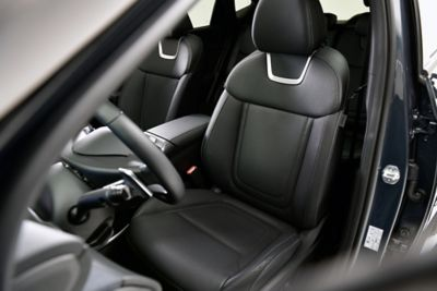 The heated and ventilated seats in the all-new Hyundai Tucson compact SUV.