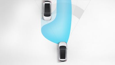 The High Beam Assist (HBA) in the all-new Hyundai Tucson Hybrid compact SUV.